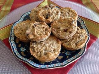 Havervlokken broodjes met rozijnen
